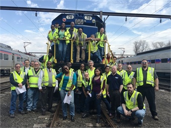 SEPTA's AIM/AD class out in the field. As part of their coursework, they visit various SEPTA sites to learn about every aspect of the Authority as well as shadow other SEPTA managers and directors. Photo: SEPTA