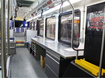 Interior of the Safety Education Bus. Photo: SEPTA