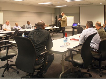 SEPTA Assistant GM of System Safety Scott Sauer addressing participants in the Supervisors' Safety Development Program Class. Photo: SEPTA