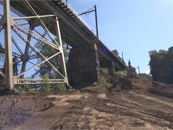 SEPTA is replacing this 925-foot-long, 100-foot-high bridge, which was originally constructed in 1895 and repaired in 1983.Photo: SEPTA