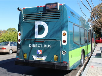 Branding for SEPTA's new Direct Route buses manufactured by Nova Bus. Photo: SEPTA