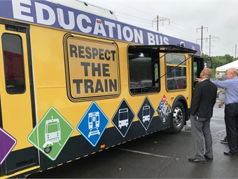 Safety signage displayed on the outside of SEPTA's Safety Education Bus. Photo: SEPTA