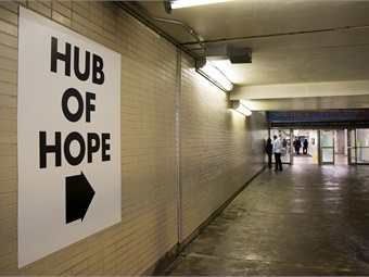SEPTA partnered with local homeless services nonprofit, Project HOME, and the City of Philadelphia, to establish a first-of-its-kind engagement center for the homeless. Photo: SEPTA/Adam Dall