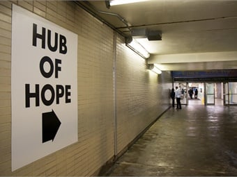 The new Hub of Hope is making a difference in the lives of those experiencing homelessness in downtown Philadelphia. Photo: Adam Dall