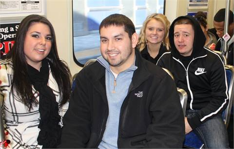 Riders on SEPTA's Market-Frankford Line. Photos courtesy SEPTA
