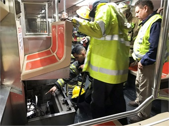 A training seat is part of the exercise. Photo: SEPTA