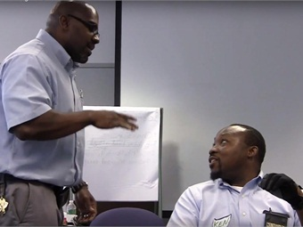 SEPTA's new driver training included team building activities and role playing exercises in crisis de-escalation.