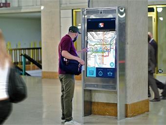 Interactive kiosk at SEPTA'S Suburban Station in Philadelphia, Pa. Photos courtesy SEPTA
