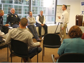 A group breakout session in SEPTA's employee Safety Summit. Photo: SEPTA