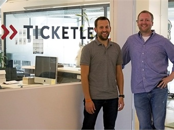 Ticketleap is led by (from left) CEO Tim Raybould and Senior Account Manager Lee George.