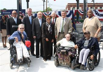 SEPTA, elected offcials, community leaders and other dignitaries celebrated the addition of Primos Station to the agency's growing list of accessible stations. Photo courtesy of SEPTA.
