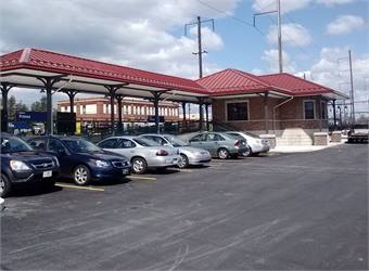 Improvements to the station include increased parking and ADA-accessible high-level platforms on the inbound and outbound sides of the station. Photo courtesy of SEPTA.