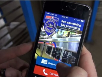 The SEPTA Transit Watch app, developed by ELERTS, enables riders to discreetly report issues to transit police in less than 20 seconds. Screenshot via SEPTA
