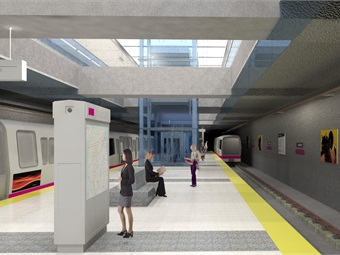 Once completed, T Third Line trains will travel mostly underground from the 4th Street Caltrain Station to Chinatown. Four new stations (rendering shown) will be built along the 1.7-mile alignment.