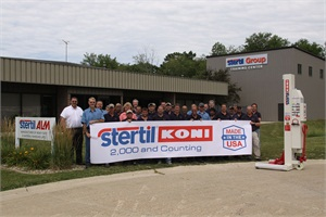Stertil-Koni USA Inc.'s manufacturing facility in Streator, Ill., Stertil ALM, has produced the company's 2,000th unit.