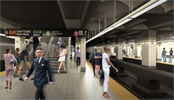 An image of proposed transit renovations. Rendering by KPF