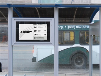 "The ""smart city"" digital signs are equipped with ePaper displays that provide crystal-clear readability any hour of the day or night."
