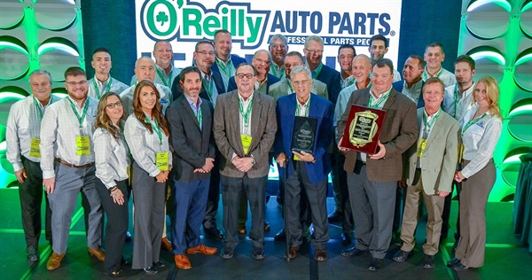 O'Reilly Auto Parts has honored SMP with two awards for performance in 2018: Supplier of the Year and Technical and Training.
