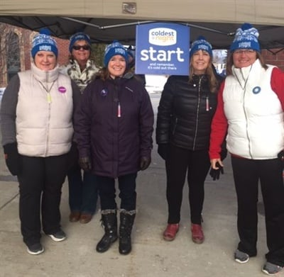 A Student Transportation of Canada (STC) team in Elmira, Ontario, helped raise over $75,000 for those in need as a sponsor of Coldest Night of the Year. Shown left is Diane Weigel, STC Elmira's area manager.