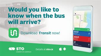 STO, Transit make real-time bus info available via mobile