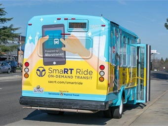 Following a ride request, the Microtransit app will provide passengers with an estimated pick-up time, track their bus in real-time, and be alerted when their ride is about to arrive.
