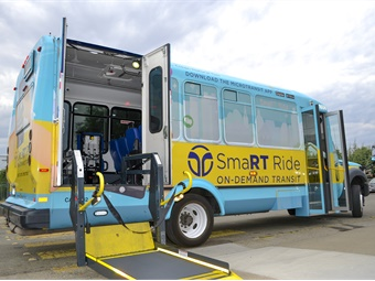 Using the all-new SmaRT Ride app, riders will be able to hail a vehicle directly from their smartphone.Via/SacRT