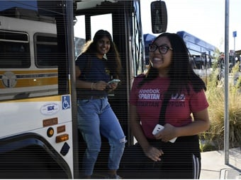 RydeFreeRT waives youth fares on bus, light rail, and SmaRT Ride microtransit service across SacRT's service area.