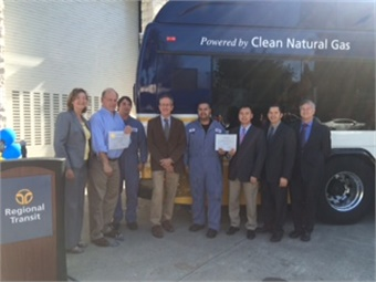 Sacramento RT and union officials were joined by local dignitaries to announce the bus apprenticeship program.