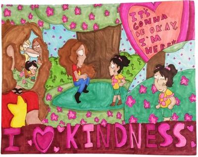 Safe Fleet's United Against Bullying program held a poster contest in addition to its coloring contest this year. Shown here is the second-place entry from Alanah, of Kapolei (Hawaii) Middle School.