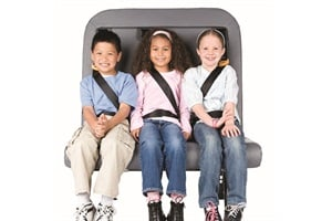 SafeGuard says it is seeing typical market prices for equipping a school bus with lap-shoulder belt seating in the $7,000 to $9,000 range — down from $12,000 to $14,000 five years ago.
