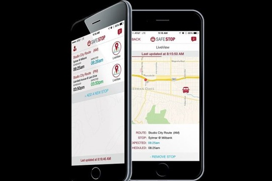 The SafeStop school bus tracking app more than doubled in number of users over the past year. It's now in use at nearly 200 school districts.