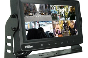 The Sentinel DVR Monitor combines an 8-inch LCD touch screen display, control box, and emergency backup battery with four camera inputs and a bonus input for an all-in-one security solution.