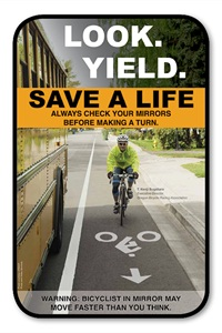 This bicycle-bus safety awareness poster and others like it can be ordered from Salem-Keizer Public Schools' auxiliary services department. Go to auxiliary.salkeiz.k12.or.us/repro.html.