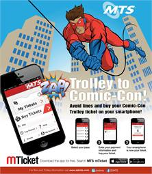 Artwork for mTicket advertising