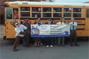 Administrators at Julius West Middle School in Rockville, Md., are working with Montgomery County Public Schools' transportation staff to include bus drivers in the school's PBIS/ROAR program.