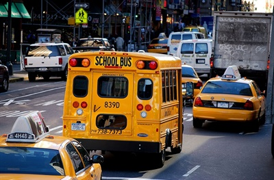 TheNew York City Department of Education has teamed up with ridesharing company Via to launch a new school bus routing, tracking, and communication platform, in addition to installing GPS systems on all of its school buses. File photo courtesy Katrina Falk
