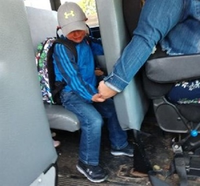 Isabel Lane of Wisconsin was honored onGood Morning Americaafter a photo of her comforting a frightened student on his first day of school was widely shared on social media. Photo courtesy Amy Johnson
