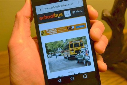 The new and improved schoolbusfleet.com offers easier navigation and a more responsive design for users on mobile devices.