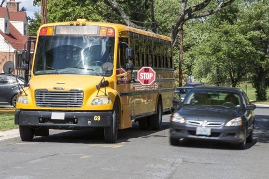 About 104,000 school bus drivers participated in this year's one-day count of stop-arm running. File photo courtesy NHTSA
