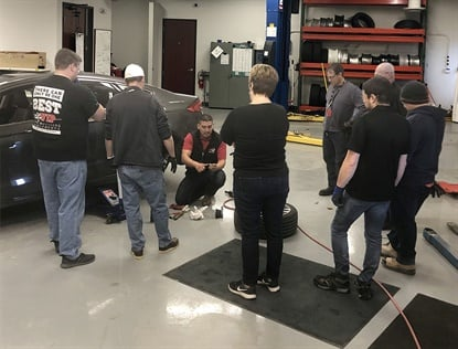 Schrader TPMS Solution's office in Troy, Mich., recently hosted a TIA ATS training session.