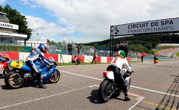 Historical Yamaha machines take to the equally historic Spa-Francorchamps race circuit.