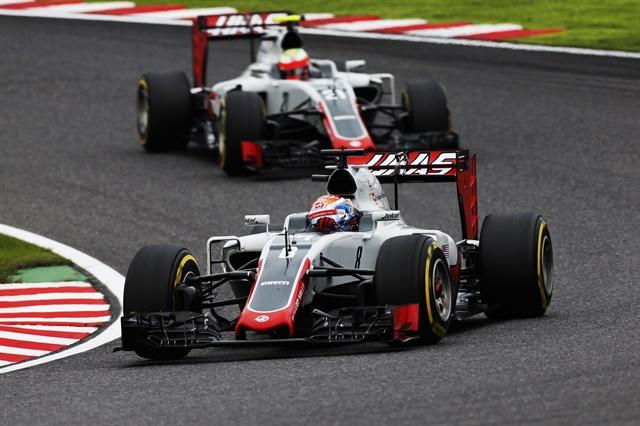 Haas F1 teammates at Suzuka.