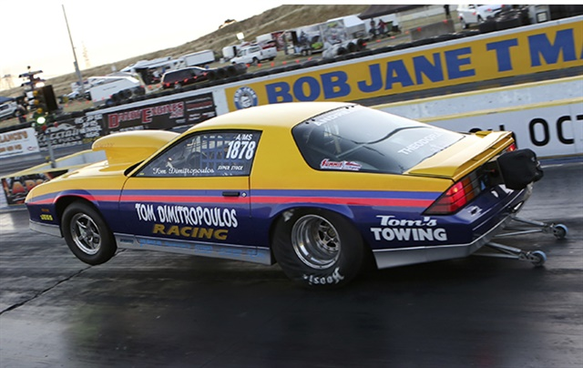 Tom Dimitropoulos (Gillman, SA) has taken out the Rowe Memorial Super Stock Classic at Calder Park Raceway.