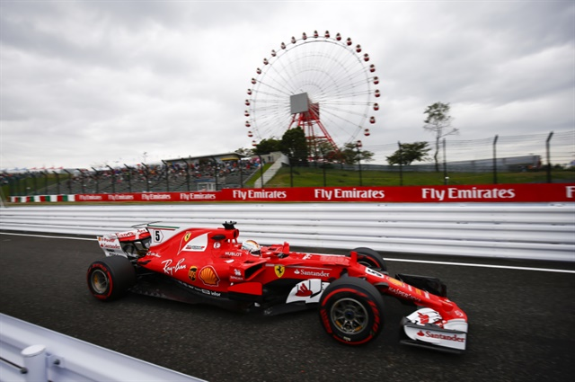 Ferrari's Sebastian Vettel was quickest in Free Practice One at Suzuka.
