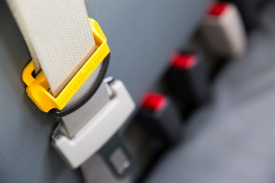 The billwould require all new school buses purchased inthe provinceafter September 2021 tobe equipped with seat belts. Photo courtesy Des Moines(Iowa) Public Schools