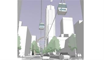 Union Street Gondola rendering. Courtesy VIA Architecture