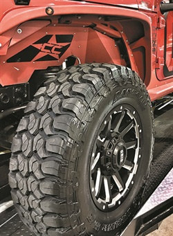 """Sentury is building its lineup of LT tires, and in 2016 added this Landsail M/T tire. Expect news about a """"rough terrain"""" product at the 2017 Specialty Equipment Market Association Show."""