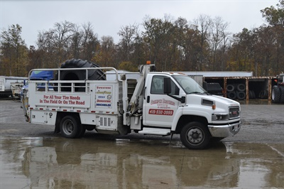 """Though miles from a major highway, the dealership has become a """"go-to"""" source for owner-operators. """"If there's a big job, we'll go out with our service techs,"""" says Kris."""