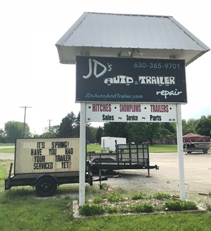 "John ""JD"" Davis learned how to service trailers from his father, Jim, and opened his own shop, JD's Auto and Trailer Repair, in 2010, near Chicago."