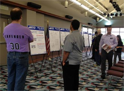 <p>At MTD's last public hearing, a group of super fans showed up, wearing lavender-colored shirts with